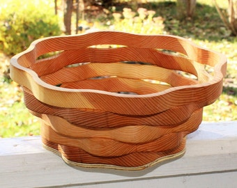 Large Handmade Wooden Bowl. 10 inch diameter, 4 inch depth