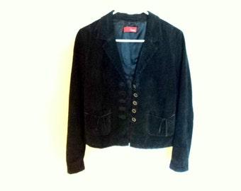 Leather Jacket. Dark blue jacket in Sweden. Vintage clothing in excellent condition. Vintage hammer.