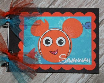 Personalized Disney Autograph Book Inspired by Nemo