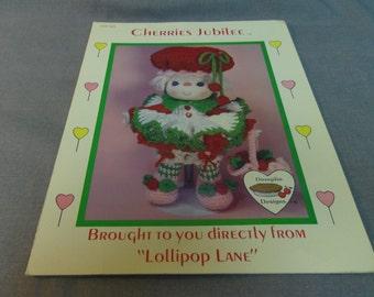 Doll Clothes Crochet Pattern, Cherries Jubilee, Lollipop Lane, Dumplin Designs, 1984