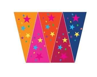 BUNTING | Party Decor | Coloured flags | Flag Bunting