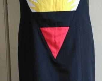 80's black sheath dress