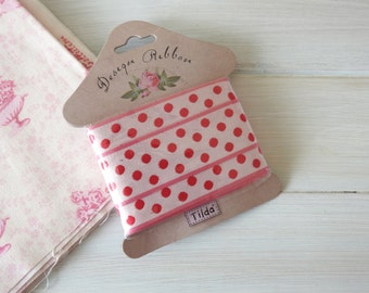 Tilda Ribbon, Sewing Bird, double sided - 25 mm