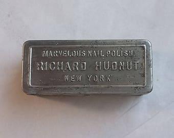 Vintage Metal Box Richard Hudnut Marvelous Nail Polish