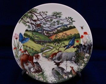 Wedgwood Decorative plate Colin Newman 'The Babbling Brook'