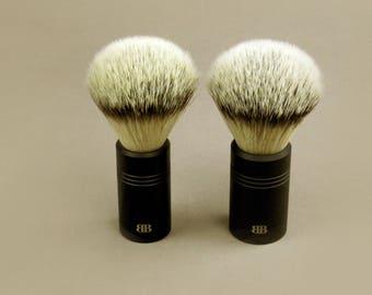 Anodized Aluminum Handle Synthetic Fiber Shaving Brush, Vegan Shaving Brush, Vegan, Wet Shave Brush, Vegan Wet Shave Brush, shaving gift