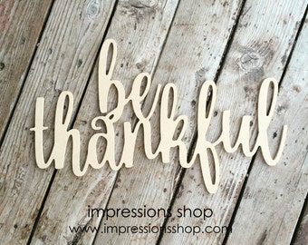 be thankful wooden cutout