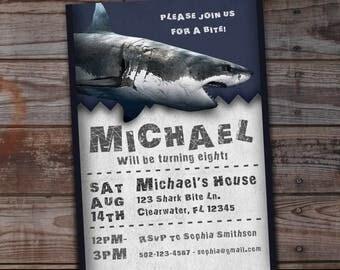 Shark birthday invitation, shark birthday invitations, shark birthday invites, shark birthday party, shark birthday, shark