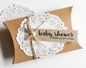 Baby Shower Favour Kit Pk10 - Kraft Brown Boxes. Rustic.