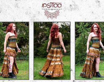 Dress asymmetrical bustier magical ethnic trance Gypsy Gypsy