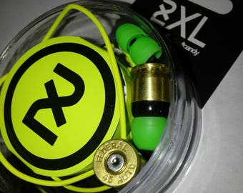 Bullet Headphones with .45cal casings, earbuds, earphones. Holiday. Mens. Gift.