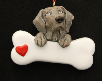 Weimaraner Personalized Christmas Ornament, Weimaraner ,Ornament,Personalized,Weimaraner Ornament, Hunting Dog