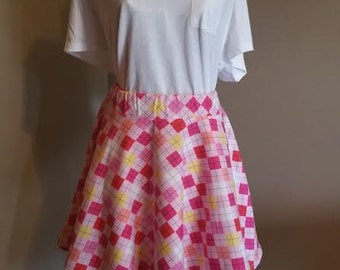 Flannel Plaid Circle Skirt