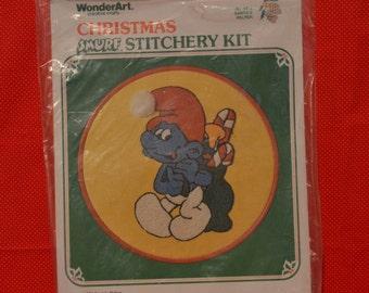 Christmas Smurf Stitchery Kit
