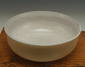 Stoneware Speckled Bowl -- Serving Bowl -- Mixing bowl