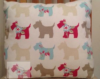 "REDUCED - Scottie Dog  Cushion - 15"" x 15"""