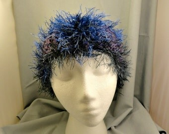 Fuzzy Crocheted Head Band