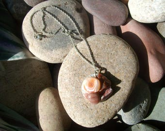 Handmade polished Agate Necklace/pendant Gorgeous stones!!
