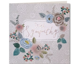 Chroma Collection - Sympathy - Thinking of you - Condolences - With Sympathy card - With Sympathy - Floral - CH24