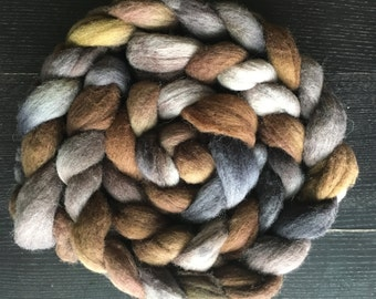 PREORDER: American Steampunk Handdyed Roving -- Columbia / Rambouillet -- 4-ounce braids