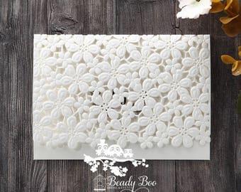 Wedding Invitation | Custom invitations | Unique invitations | Wedding stationery | Elegant invites - Floral Cluster