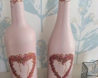 Decoupaged Bottles