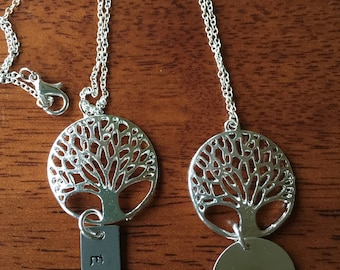 TREE OF LIFE Pendant Necklace--Personalized. Great Mother's Day Gift
