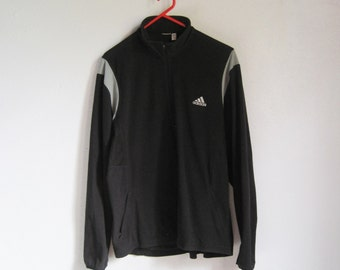 VINTAGE ADIDAS ClimaWarm Winter Black Fleece Sweatshirt - Size M