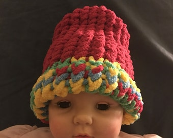 Newborn baby knitted hat