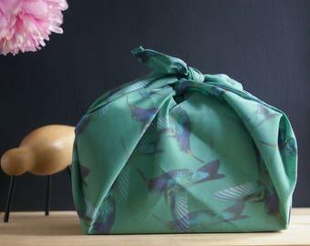 """Furoshiki """"Hummingbird"""" voile cotton - 55 x 55 cm"""