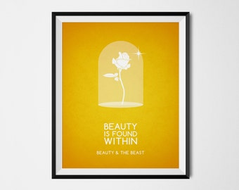 Disney Beauty and the Beast Poster | Minimalist Print | Disney Quote Print | Disney Princess Wall Art | INSTANT DOWNLOAD 8x10 Printable Art