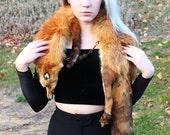 Real Vintage Fox Fur Stole