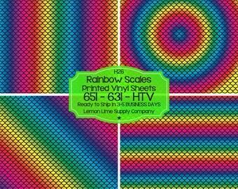 Rainbow Mermaid Scale Vinyl/Printed Heat Transfer Vinyl/Pattern Vinyl/Printed 651 Vinyl/Printed 631 Vinyl/Printed Outdoor Vinyl/Printed HTV