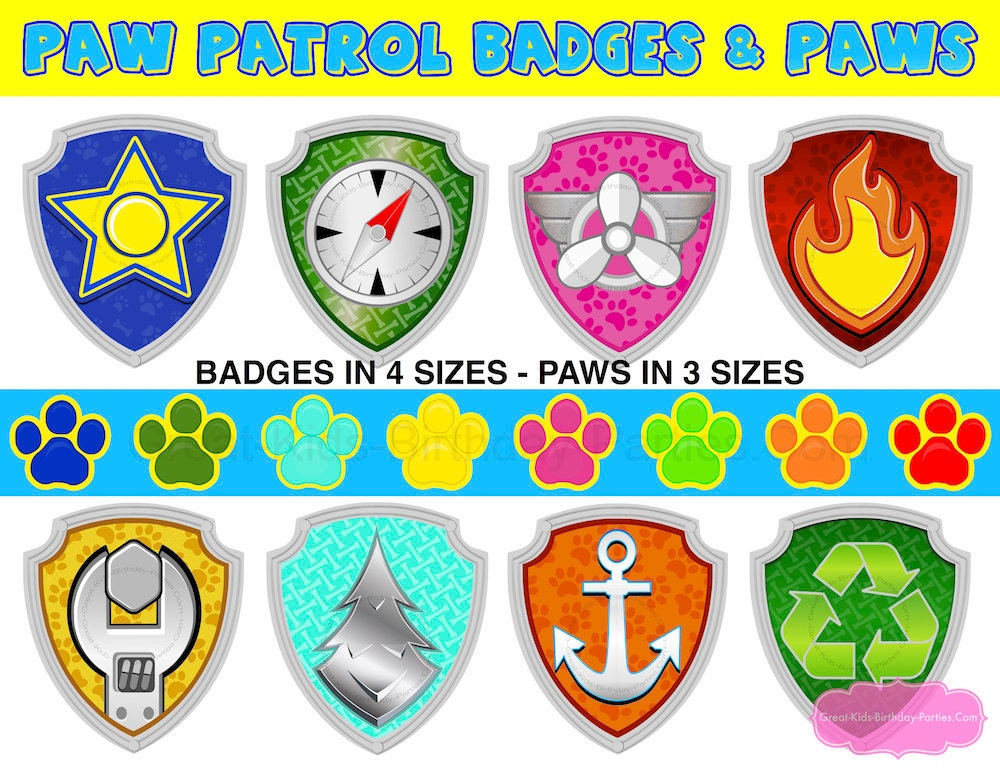 Punchy image inside paw patrol badges printable