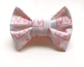 Fabric Bow // Princess Bow // Baby Headband // Baby Bow // Headband // Clip