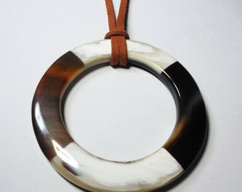 Horn pendant necklace - Horn jewelry - Unique and perfect horn jewelry! - KAI-5678