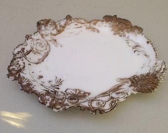 Victoria Dithridge Milk Glass Boudoir Pin Tray