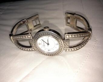 15% OFF Brighton Watch/Brighton  Silver  Watch/Designer Silver Watch/90'sWatch/Round Silver Tone Watch/Perfect Gift For Her/ Item Nr. 143