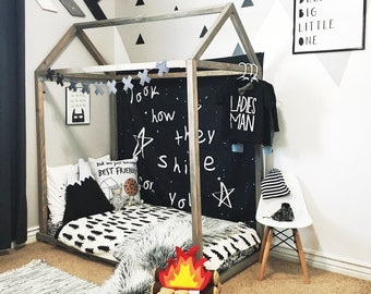Crib Size house Bed, house bed, tent bed, children bed, wood house, wood nursery, kids teepee bed, wood house bed, wood bed frame, kids bed