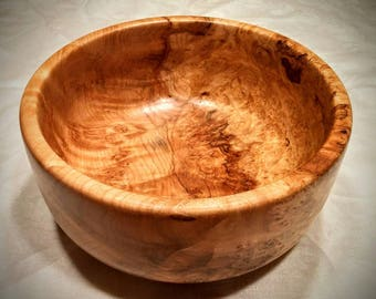Curly, spalted, birdseye Maple Bowl