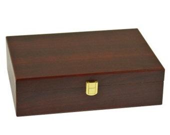Plain Double 12 Matte Finish Wooden Case