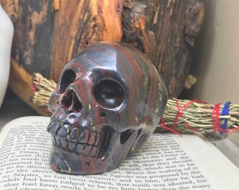 Iron Tigers Eye Skull