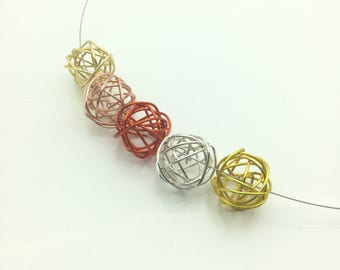 Gold Copper Wire Necklace