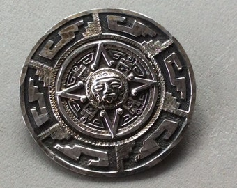 Aztec Sterling 925 Brooch/Pendant from Mexico