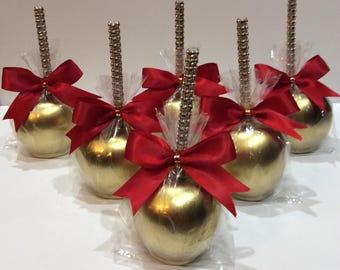 Metallic Candy apples