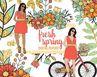Fresh Spring  Hand drawn Clip Art