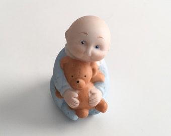 Vintage Cabbage Patch Kid Figurine, Baby Figurine, 1984 Cabbage Patch Figurine, Porcelain Baby Figurine, Baby Shower Gift, Baby Shower Decor