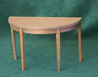 Miniature Half-Round Wood End Table