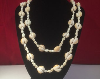 Large Vintage White Shell Necklace