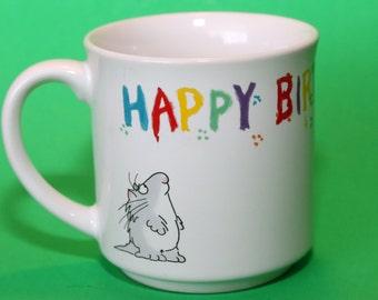 Sandra Boynton Cup, Mug, Happy Birthday To You, Cat, Paws, Paint, Pawprints
